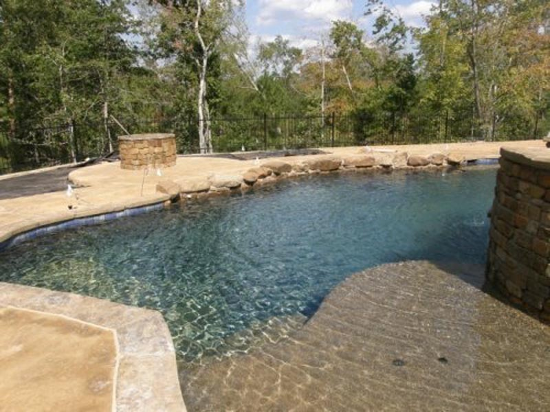 Custom Pool and Fire Pit 1