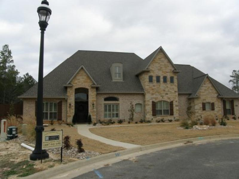 Frensh Country Elevation with Stone and Brick Details 1