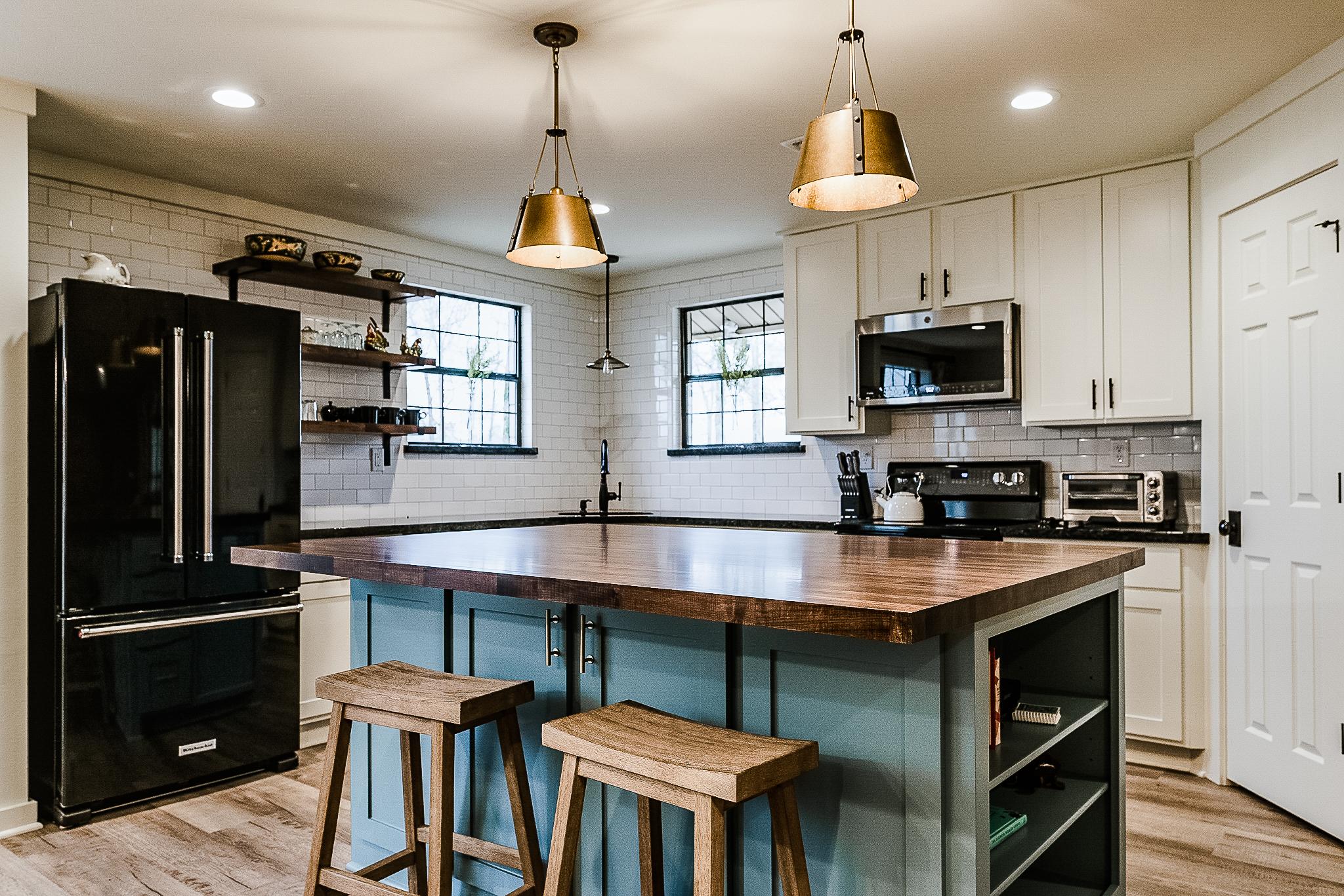 Open Kitchen Design McDonald Farm House