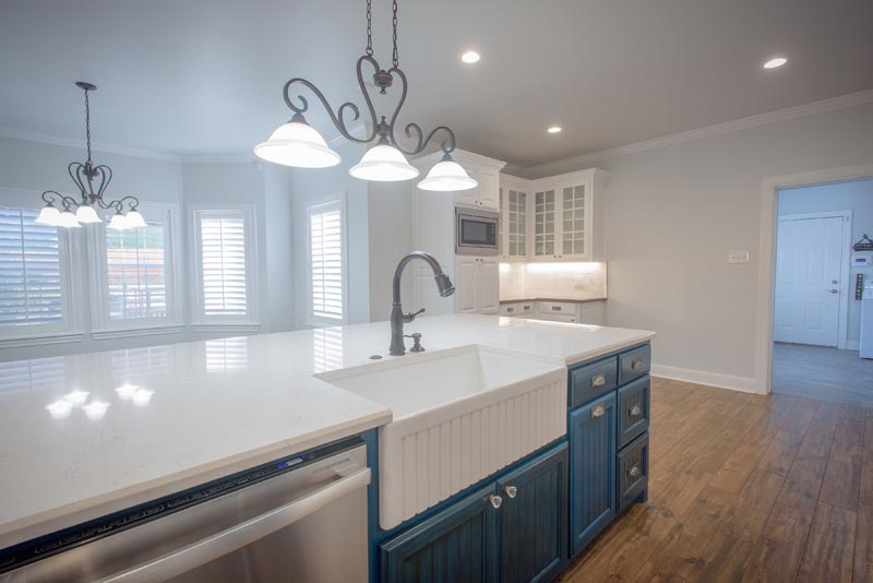 Martinez Remodel - Kitchen and Living